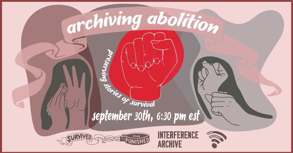 issue4-launch-graphic-archiving abolition with raised fist in red
